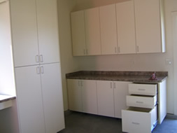 Photo of more custom commercial cabinetry